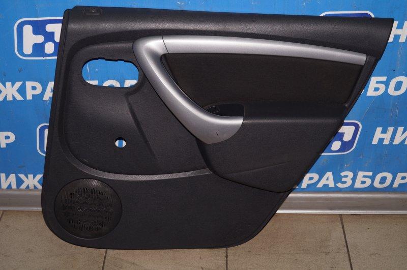 Обшивка двери Renault Duster 2.0 F4RA400 2013 задняя правая (б/у)