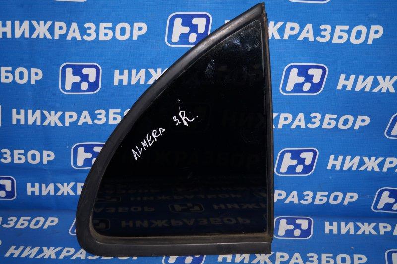 Форточка двери Nissan Almera N15 GA15DE 1999 задняя правая (б/у)
