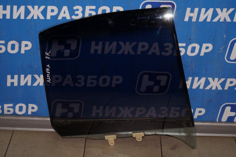Стекло двери Nissan Almera N15 GA15DE 1999 заднее правое (б/у)