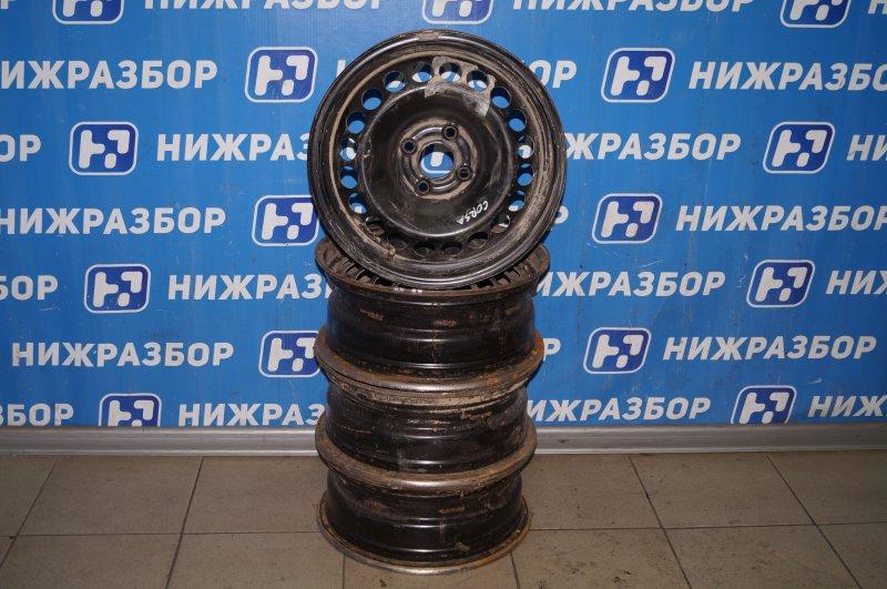 Диск штампованный к-кт Opel Corsa D 1.2 Z12XEP 2008 (б/у)
