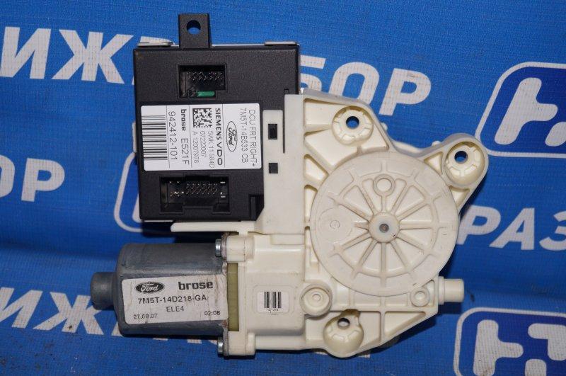 Моторчик стеклоподъемника Ford Focus 2 1.6 (HXDB) 2007 передний правый (б/у)