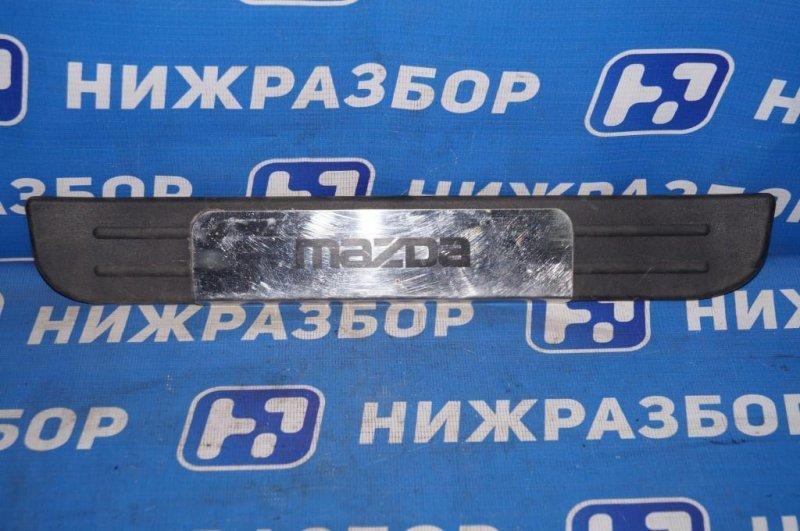 Накладка порога (внутренняя) Mazda Cx 7 ER 2.3T (L3) 2008 задняя левая (б/у)