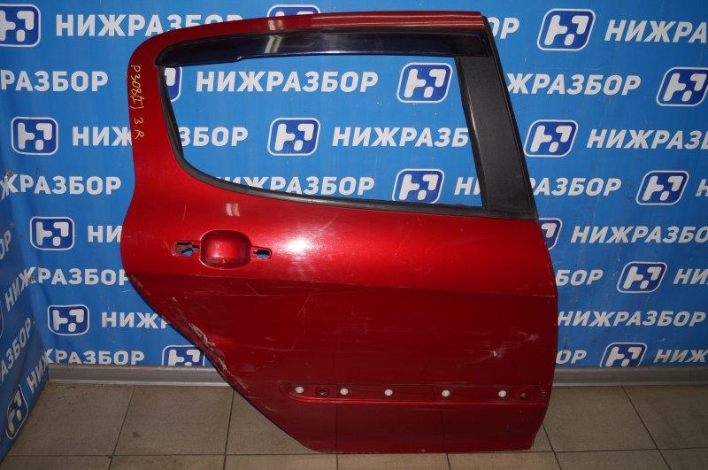 Дверь Peugeot 308 2007 задняя правая (б/у)