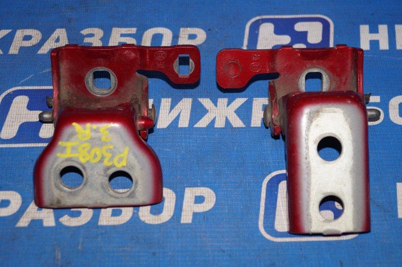 Петля двери Peugeot 308 2007 задняя правая (б/у)