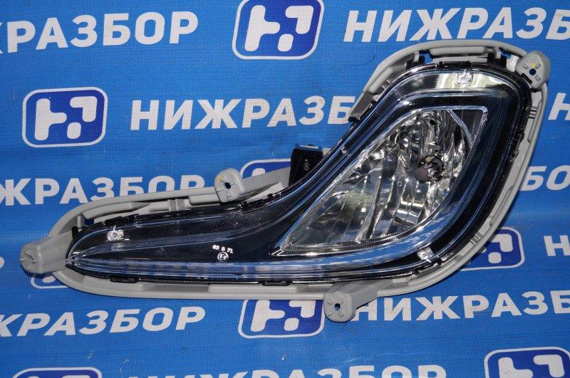 Фара противотуманная Hyundai Solaris 2010 передняя левая