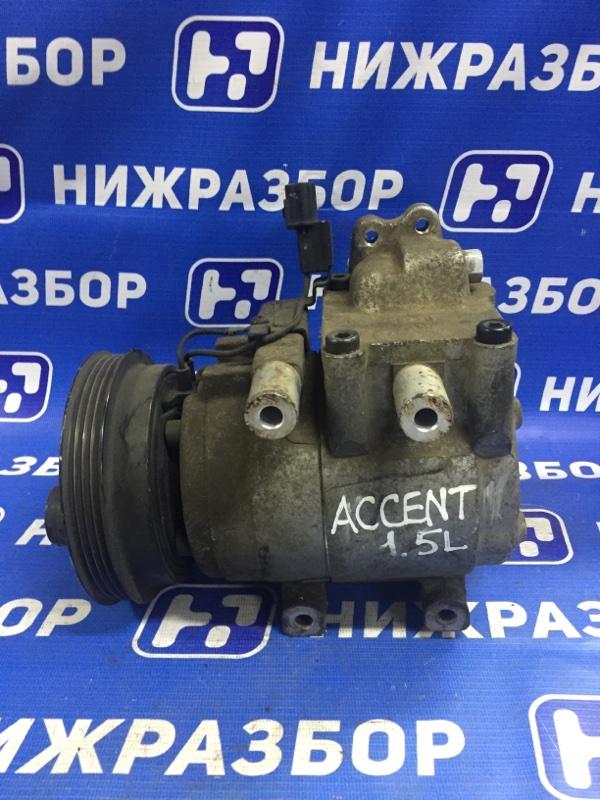 Компрессор кондиционера Hyundai Accent 2 2000 (б/у)
