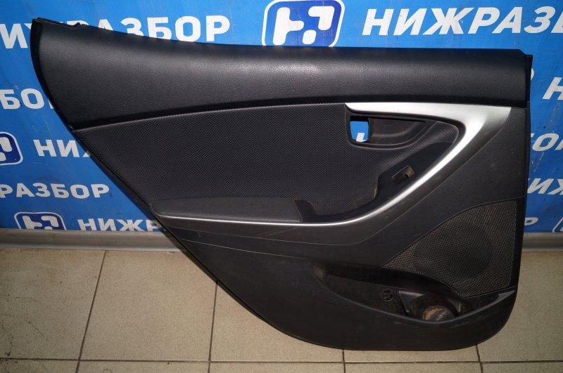 Обшивка двери Hyundai Elantra MD 2011 задняя левая (б/у)