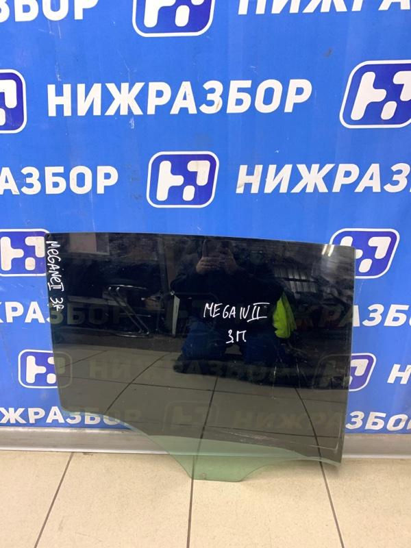 Стекло двери Renault Megane 2 СЕДАН 1.6 2002 заднее правое (б/у)