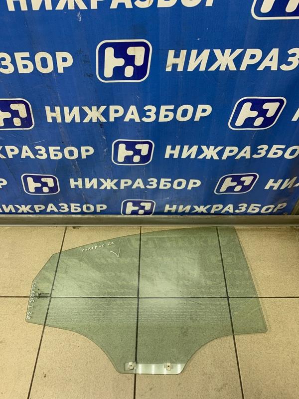 Стекло двери Hyundai Solaris 1 2010 заднее правое (б/у)