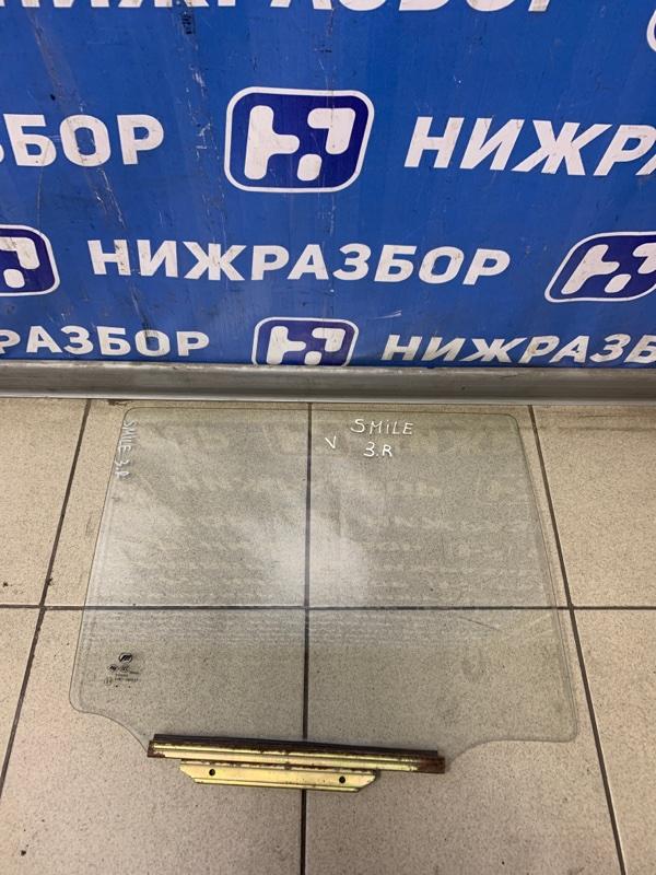 Стекло двери Lifan Smily 2008 заднее правое (б/у)