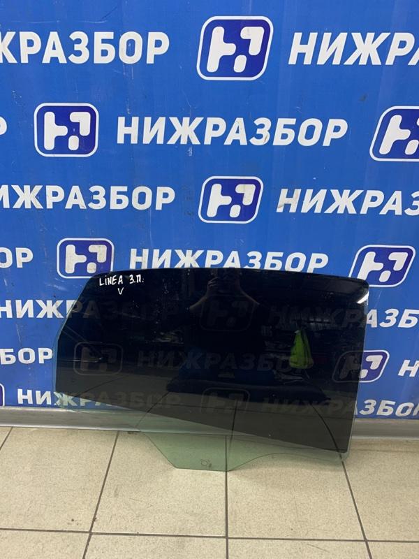 Стекло двери Fiat Linea 2007 заднее правое (б/у)