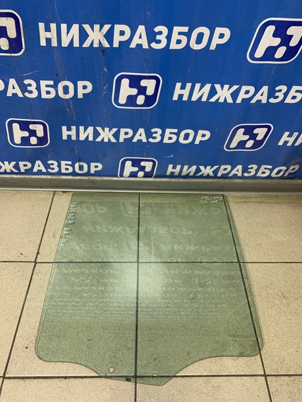 Стекло двери Mitsubishi Pajero 3 2000 заднее правое (б/у)