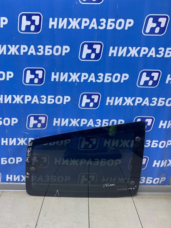 Стекло кузовное глухое Mitsubishi Pajero 3 2000 заднее правое (б/у)