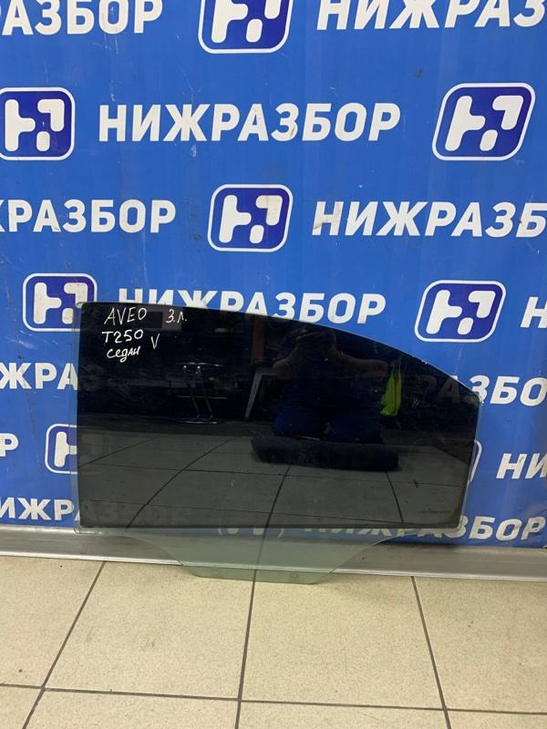 Стекло двери Chevrolet Aveo T250 2005 заднее левое (б/у)