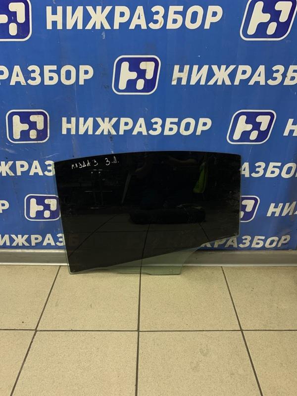 Стекло двери Mazda 3 BK 2002 заднее левое (б/у)