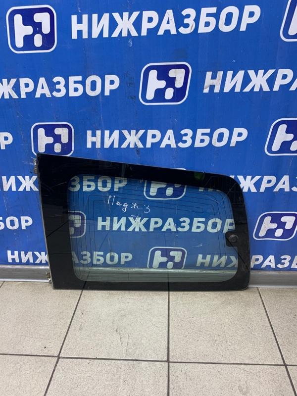 Стекло кузовное глухое Mitsubishi Pajero 3 2000 заднее левое (б/у)