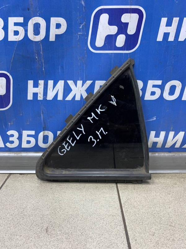 Стекло кузовное глухое Geely Mk 2008 заднее правое (б/у)