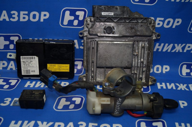 Замок зажигания (комплект) Hyundai Elantra HD 1.6 (G4FC) 2009 (б/у)