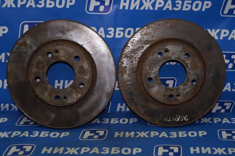 Диск тормозной Hyundai Elantra HD 1.6 (G4FC) 2009 передний (б/у)