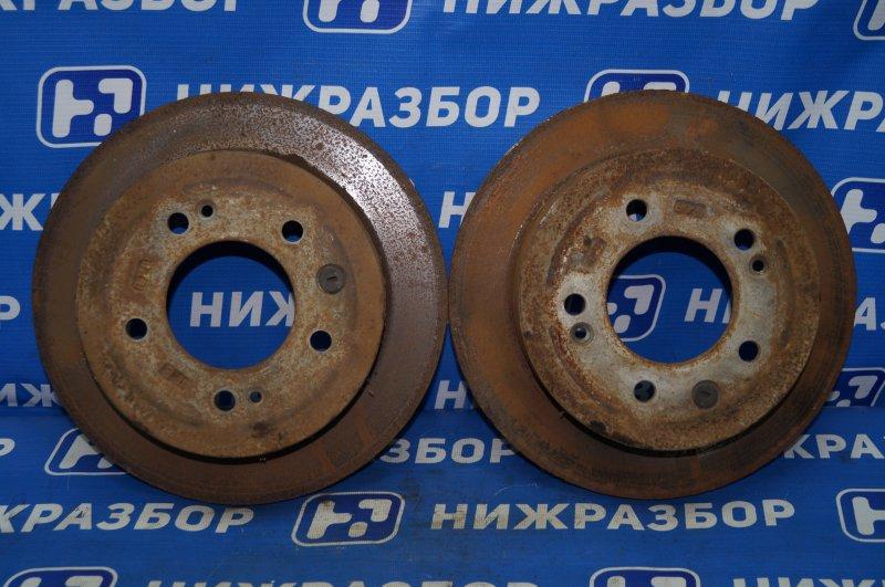 Диск тормозной Hyundai Elantra HD 1.6 (G4FC) 2009 задний (б/у)