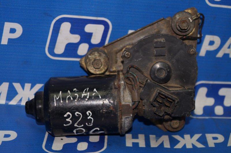 Моторчик стеклоочистителя Mazda 323 BG 1989 передний (б/у)