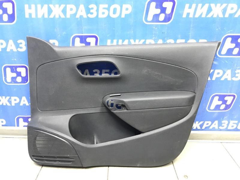 Обшивка двери Volkswagen Polo Sedan передняя правая (б/у)