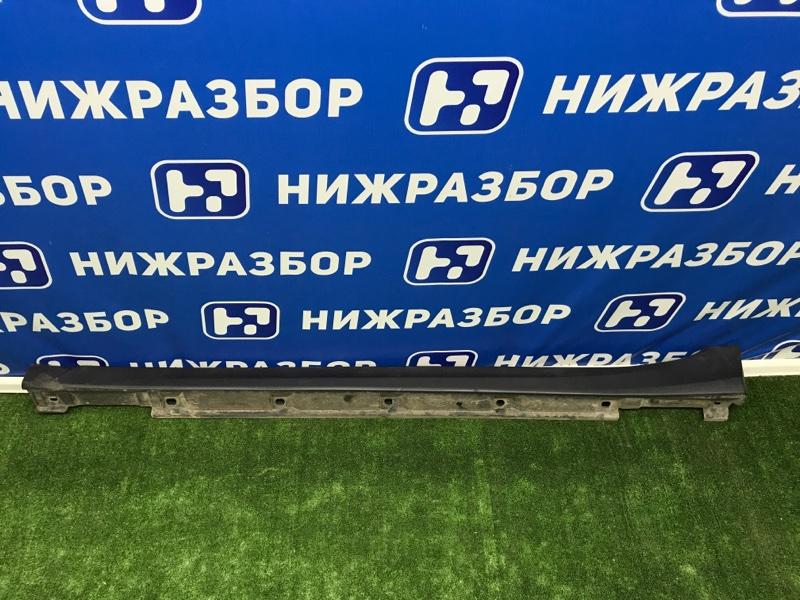 Накладка на порог (наружная) Subaru Xv левая (б/у)