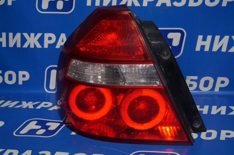 Фонарь Chevrolet Aveo T250 1.4 (F14D3) 2007 задний левый (б/у)