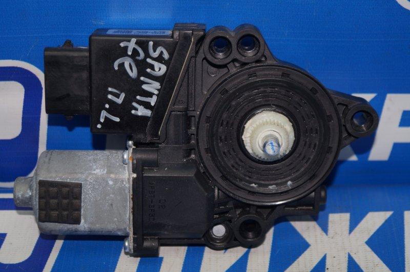 Моторчик стеклоподъемника Hyundai Santa Fe DM 2012 передний левый (б/у)