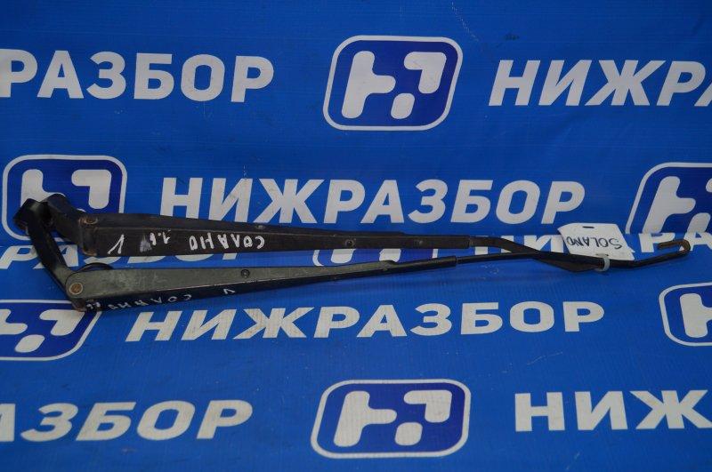 Поводок стеклоочистителя к-кт Lifan Solano 620 2010 передний (б/у)