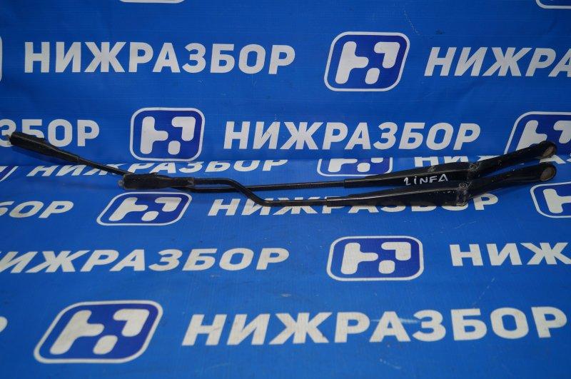Поводок стеклоочистителя к-кт Fiat Linea 1.4T 198A4000 2010 передний (б/у)