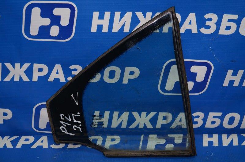 Форточка двери Nissan Primera P12 2002 задняя правая (б/у)