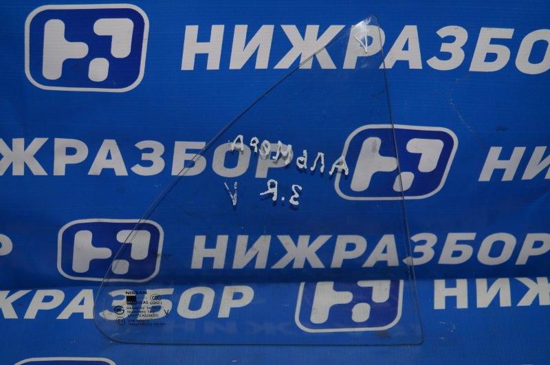 Форточка двери Nissan Almera Classic B10 2006 задняя правая (б/у)