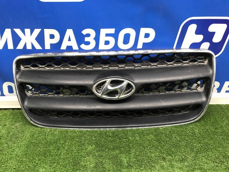 Решетка радиатора Hyundai Santa Fe CM 2005 передняя (б/у)