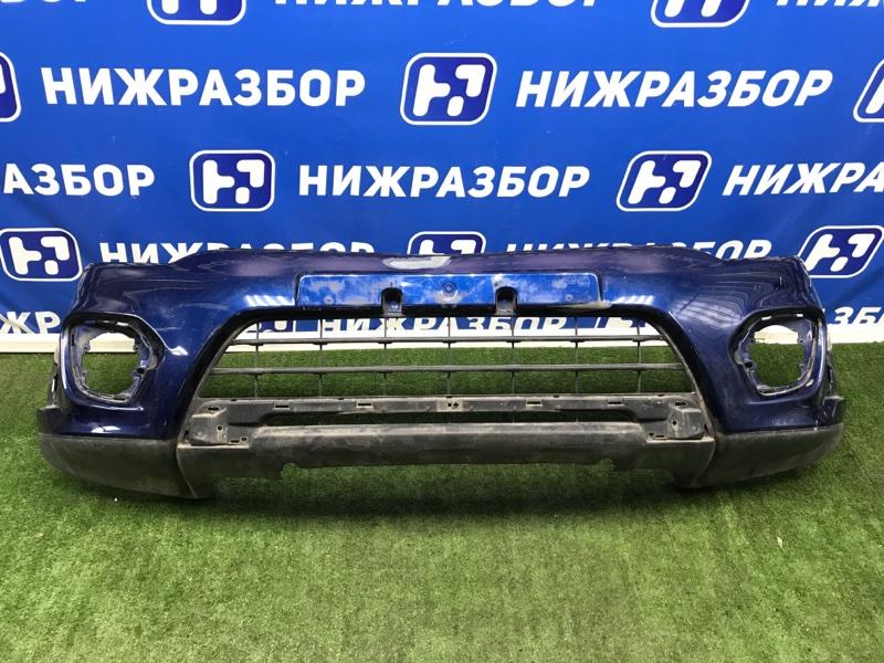 Бампер Mitsubishi Pajero Sport 2 KH передний (б/у)