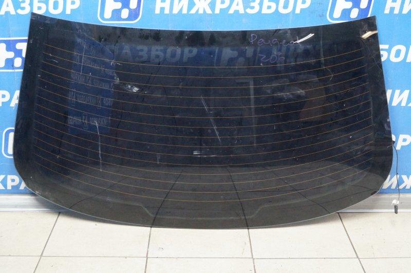 Стекло Peugeot 206 1998 заднее (б/у)