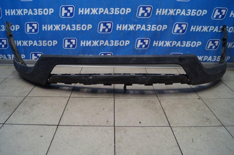 Накладка бампера Hyundai Santa Fe DM 2012 передняя нижняя (б/у)