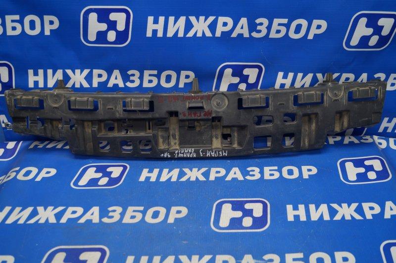 Кронштейн бампера Renault Megane 3 2009> задний (б/у)