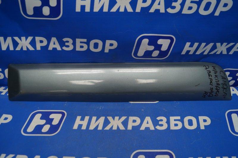 Молдинг двери Renault Sandero 2009 задний правый (б/у)