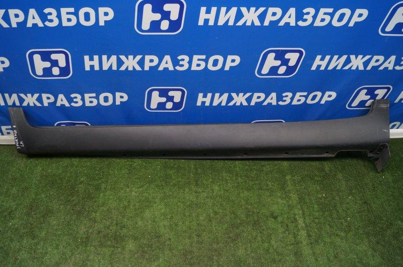 Накладка на порог (наружная) Kia Sportage 3 SL 2010 левая (б/у)