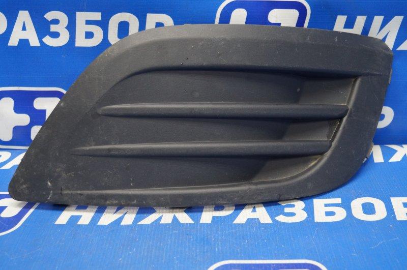 Накладка бампера Lada Largus 2012> передняя левая (б/у)
