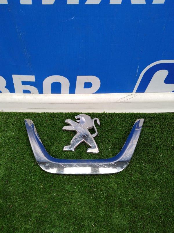 Значок (эмблема) Peugeot 408 передний (б/у)