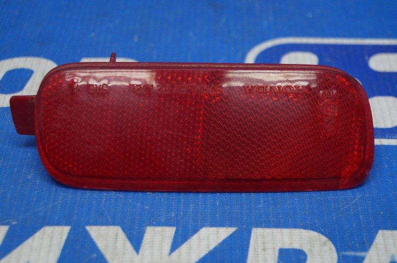 Отражатель в бампер Honda Cr-V 2 2.0 (K20A4) 1007182 2002 задний левый (б/у)