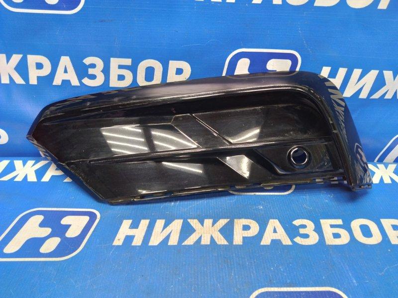 Решетка в бампер Volkswagen Tiguan передняя левая (б/у)