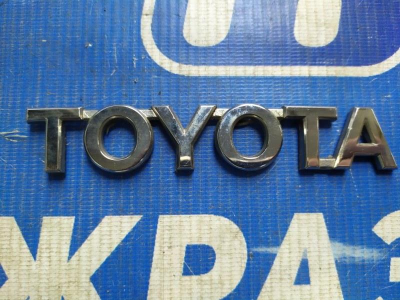 Значок (эмблема) Toyota Rav 4 задний (б/у)
