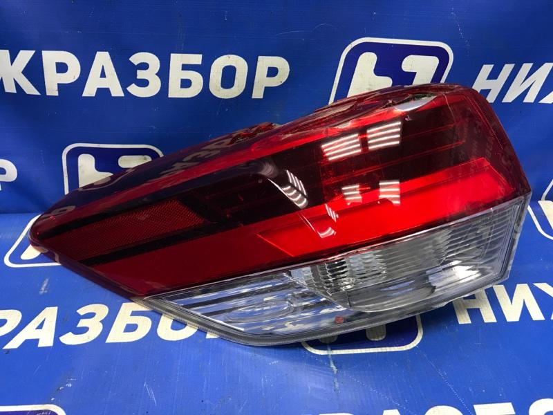 Фонарь наружный Toyota Highlander задний левый (б/у)