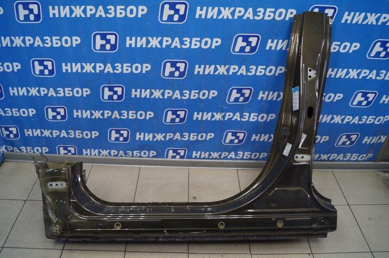 Порог со стойкой Mitsubishi Outlander 3 GF 2012> левый (б/у)