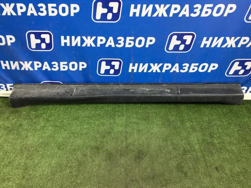 Накладка на порог (наружная) Mitsubishi Outlander Xl CW правая (б/у)