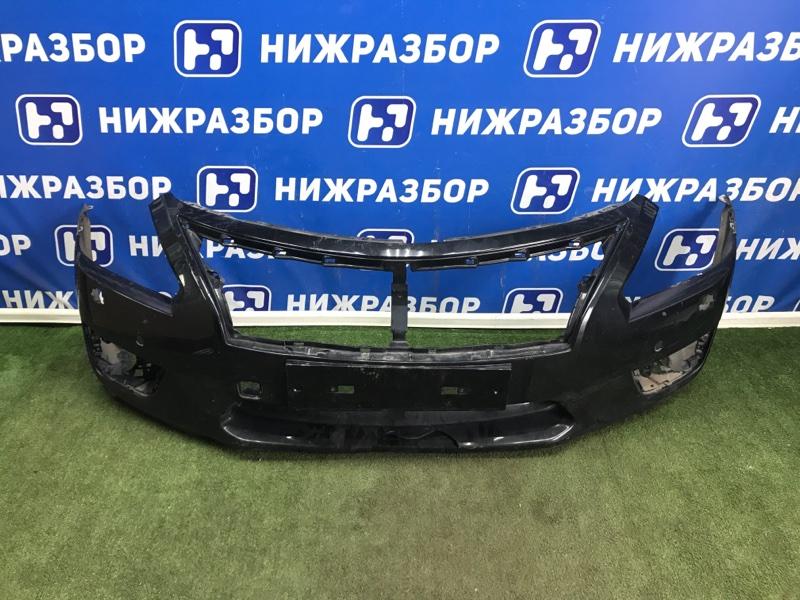 Накладка бампера Nissan Teana L33 передняя (б/у)