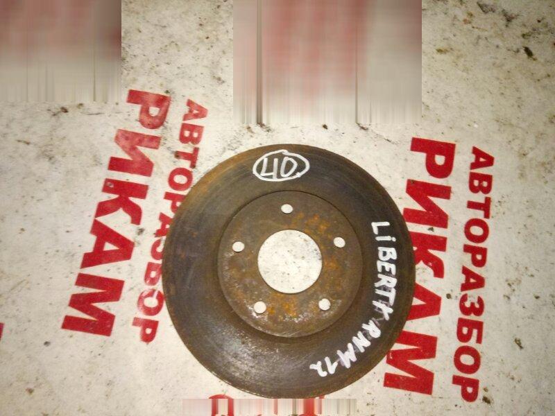 Диск тормозной Nissan Liberty PNM12 передний